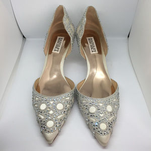 BADGLEY MISCHKA Ginny Embellished D'Orsay Pump